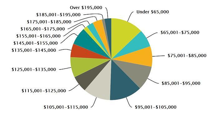 Sales Engineer Salary Pie Chart