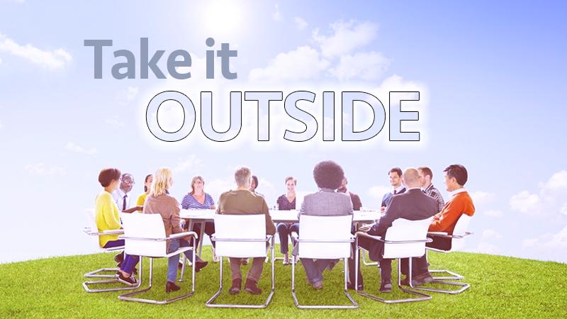 meeting outside